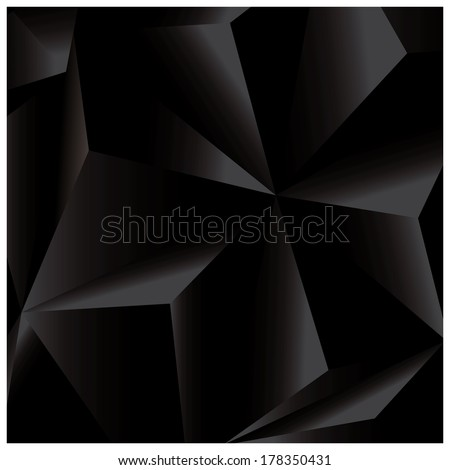 Abstract geometric vector background, 3d, black, template design elements, vector illustration - stock vector