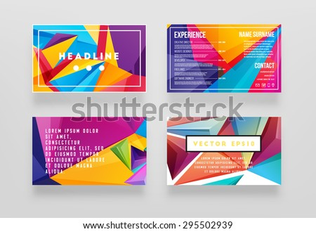 Abstract Geometric Vector Template Layout Design for Flyer, Placard, Brochure or Booklet - stock vector