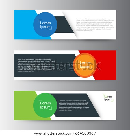 Abstract geometric vector Web banner design background ,header Templates design.