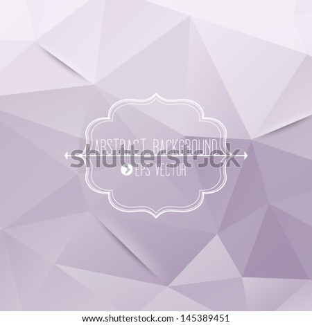 Abstract geometric violet background with frame and arrows