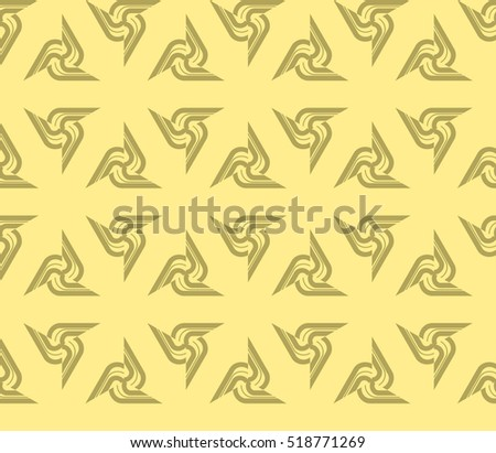 Abstract geometric wallpaper. vector. yellow