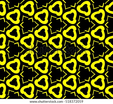 Abstract geometric wallpaper. vector. yellow and black. gold