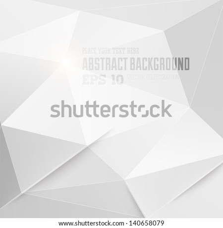 Abstract geometric white background for modern design - stock vector