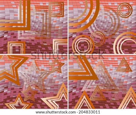 Abstract geometrical background. Vector.