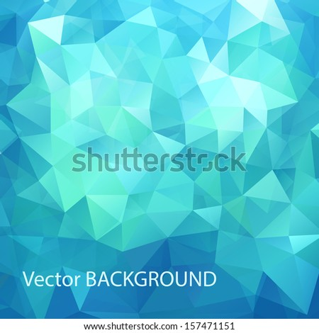 Abstract geometrical background with triangles - stock vector