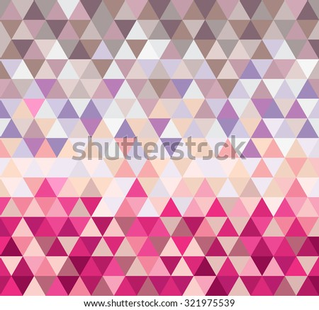 Abstract geometrical background with triangles and space for message. Vector. - stock vector