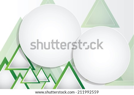 Abstract geometrical background with triangles and space for your message