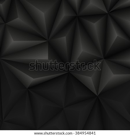 Abstract geometrical black background. Vector Illustration. Clip-art - stock vector
