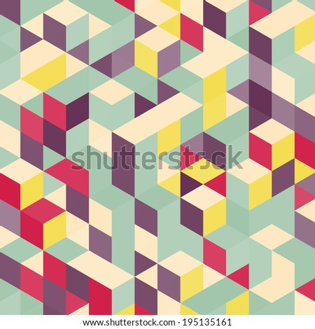 Abstract geometrical 3d background.  - stock vector