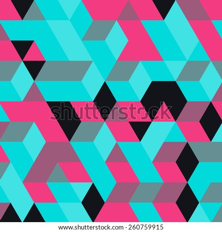 Abstract geometrical 3d background. Can be used for wallpaper, web page background, web banners. - stock vector