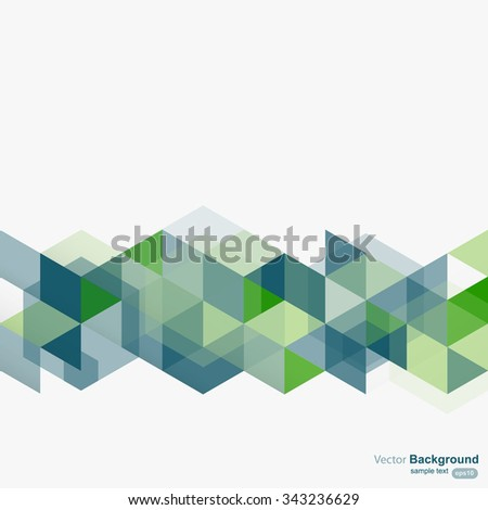 Abstract geometrical design background, vector - stock vector