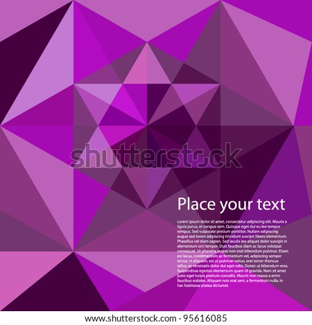 Abstract geometrical moresque background. Place your own text! - stock vector
