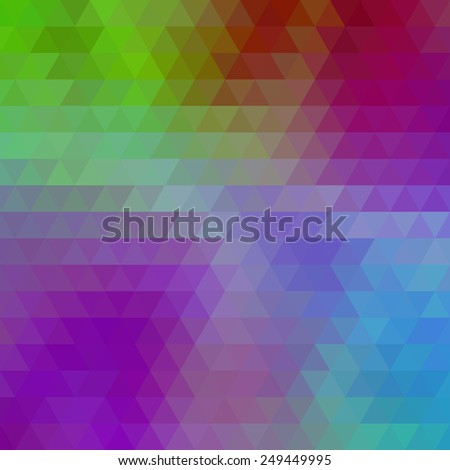 Abstract geometrical multicolored background consisting of bright triangular elements. Vector illustration. - stock vector