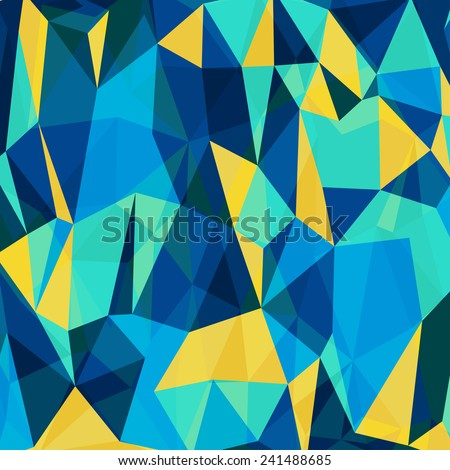 Abstract Geometrical Multicolored mosaic Background, Vector Illustration EPS10 - stock vector