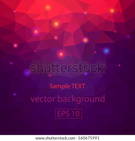 Abstract geometrical triangles background - stock vector