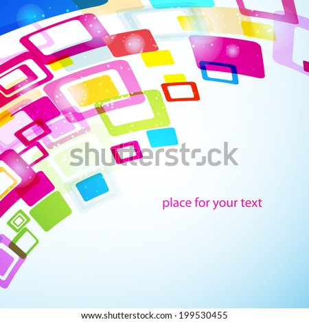 abstract geometry background with squares. Vector template for your design or business presentation - stock vector