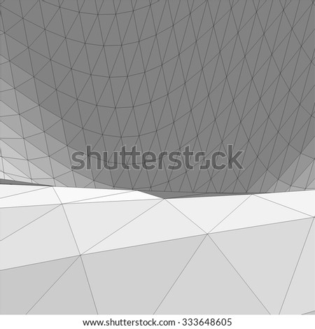 Abstract geometry. Triangle design background