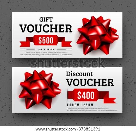 Abstract gift voucher design template. - stock vector