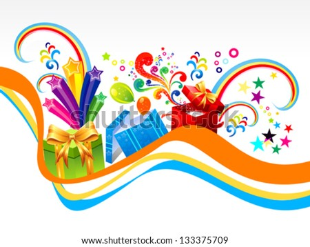abstract gift wave background vector illustration - stock vector