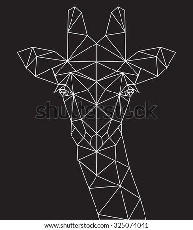abstract giraffe - stock vector
