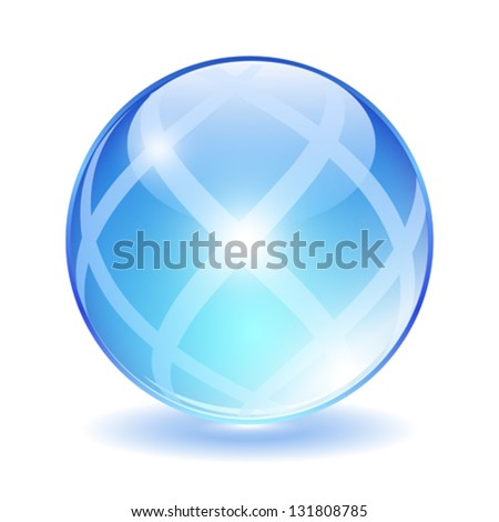 Abstract glass ball, vector illustration - stock vector