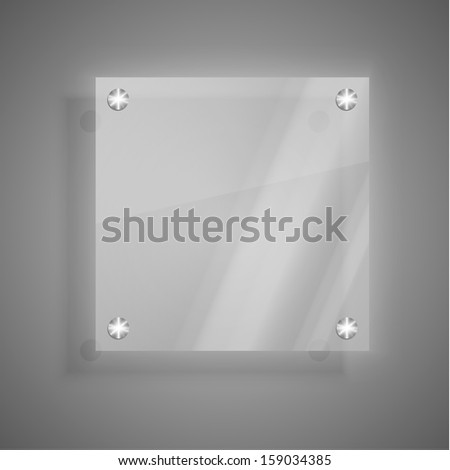 Abstract glass plate background - stock vector