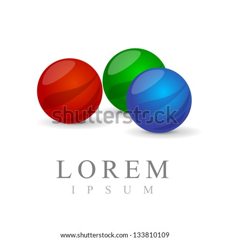 Abstract Glass Sphere Symbols - Set - Isolated On White Background - Vector Illustration, Graphic Design Editable For Your Design. Abstract Logo - stock vector