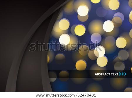 abstract glittering bokeh background - vector illustration - stock vector