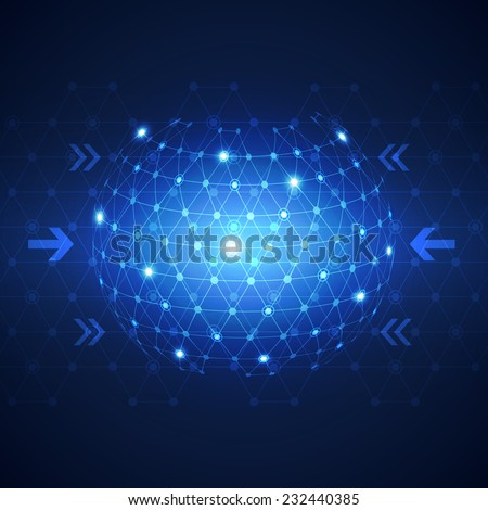 abstract global business network  technology concept background