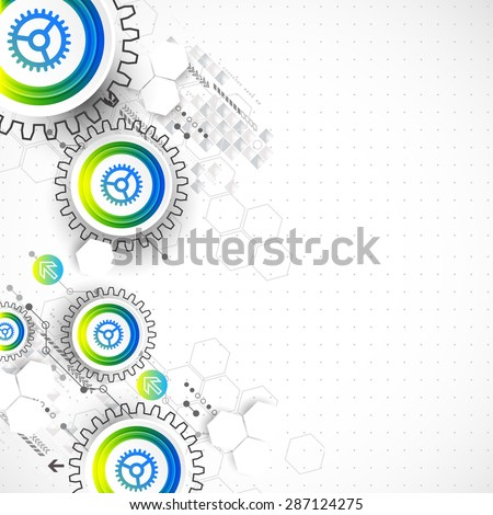 Abstract global computer technology vector concept. Business background. - stock vector
