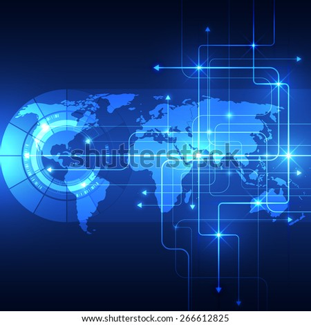 Abstract global future technology background, vector illustration - stock vector