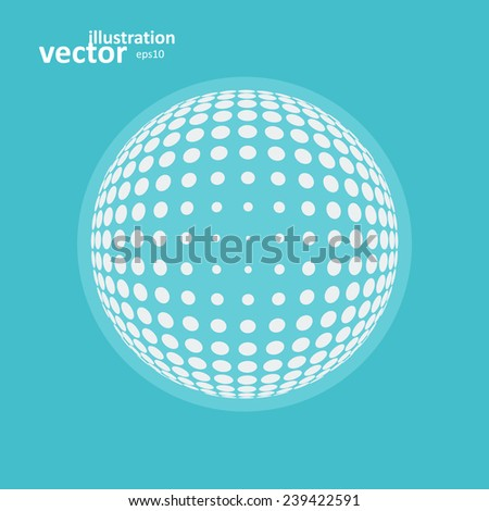 Abstract global icon, vector graphic design, stylish concept eps10