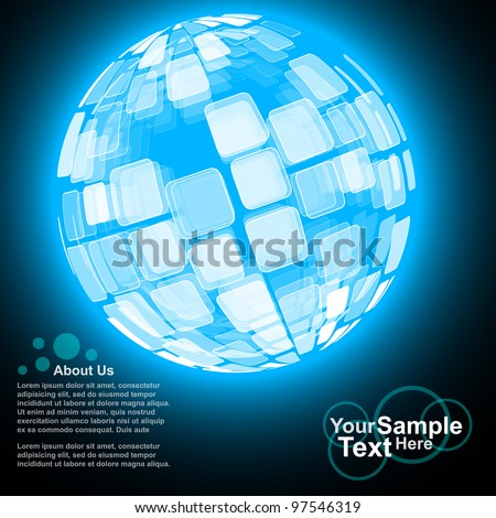 Abstract Globe Business Background, vector - stock vector