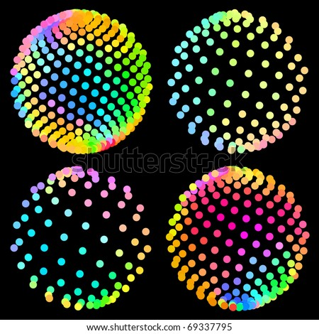 Abstract globe collection. Vector illustration. - stock vector