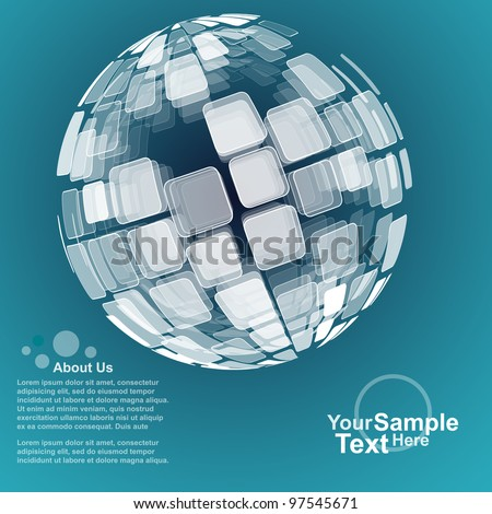 Abstract Globe Design Background, Vector - stock vector