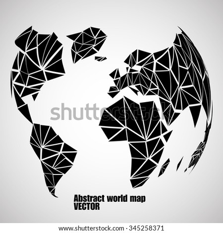 Abstract globe earth in polygonal style. Vector illustration. Eps 10 - stock vector