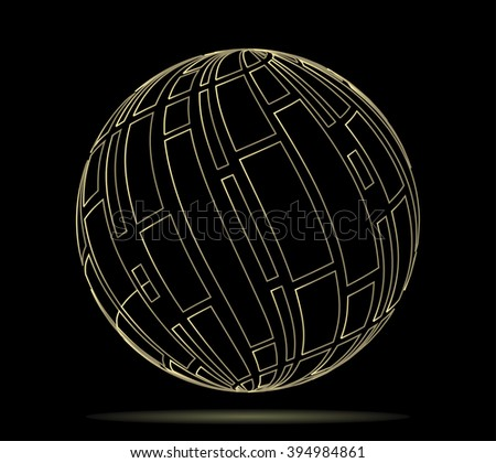 Abstract globe for design. Vector illustration.