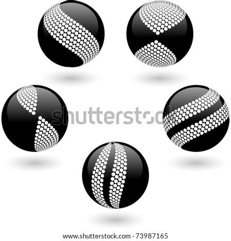 Abstract globe for design. Vector set. - stock vector
