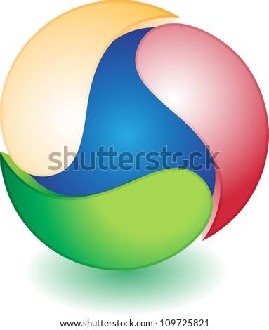Abstract Globe Icon. - stock vector