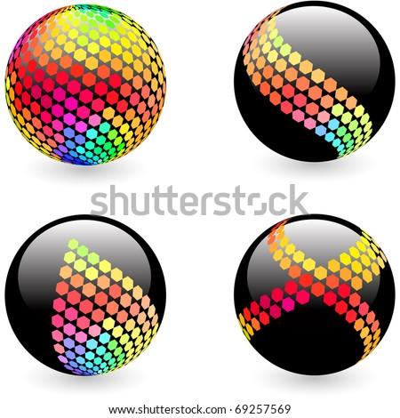 Abstract globe illustration. - stock vector