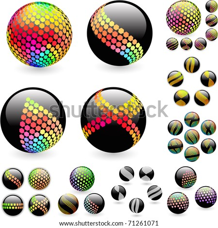 Abstract globe illustration. Great collection. - stock vector