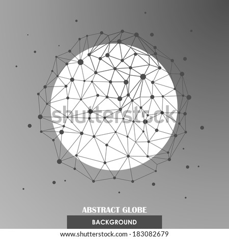 Abstract globe network connections vector background - stock vector