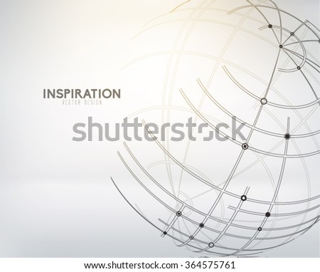 Abstract Globe Vector Design - stock vector