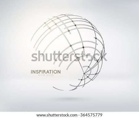 Abstract Globe Vector Design