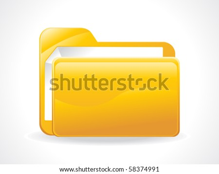 abstract glossy folder icon vector illustration