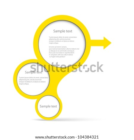 Abstract glossy golden speech bubble. Vector illustration.