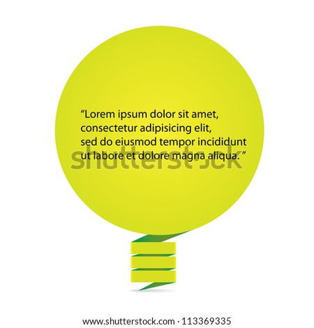 Abstract glossy green origami speech bubble. Vector abstract background. Green brochure. - stock vector