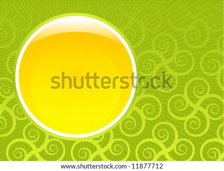 Abstract glossy green spring vector composition - stock vector