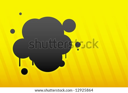 Abstract glossy orange-black hot spot vector illustration background - stock vector