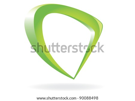 Abstract glossy speech bubble on white. Vector illustration. - stock vector